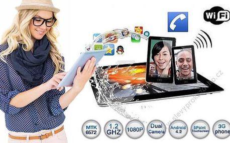 7palcový tablet 3G s GPS a telefonem na 2 SIM v jednom. Pro práci i zábavu!