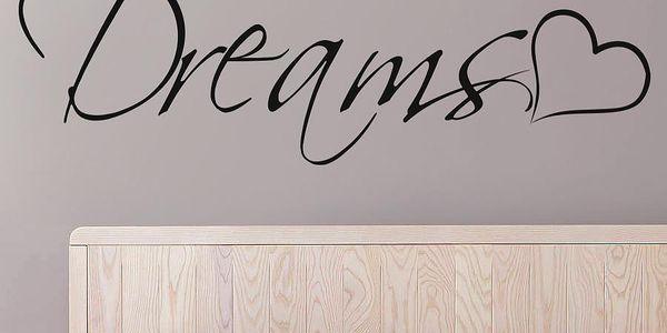 Samolepka na zeď Dreams, 70x50 cm