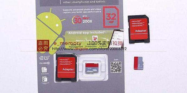 Paměťová karta 32 GB s adaptérem