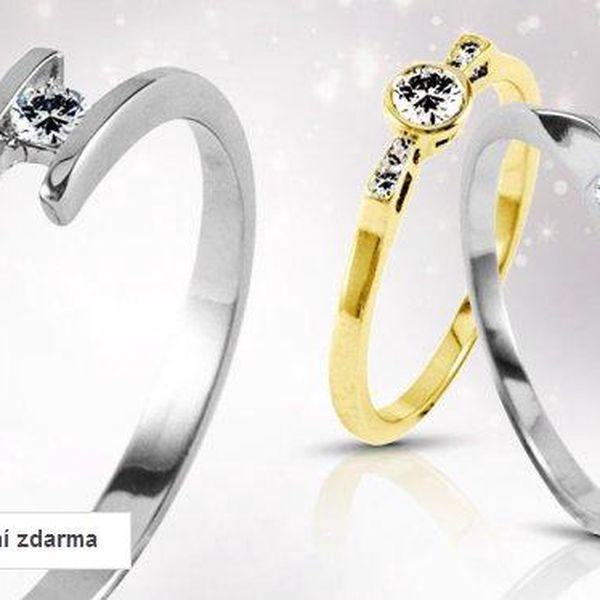 Zlaté zásnubní prsteny s brilianty – ruční výroba