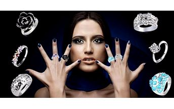 Moderní prstýnky s českými krystaly s…