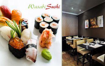 Sleva 30 % na veškerá jídla a nápoje v oblíbené restauraci Wasabi Sushi v Praze 10 ve Vršovicích!
