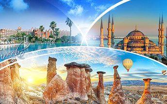 Turecko - Kappadokie a riviéra letecky! 8 dní pro 1 osobu se snídaněmi/ polopenzí a programem - akce Senior 50+!