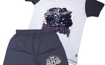 Dětské pyžamo Marvel SUPERHERO - bílá/šedá