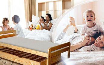 Lakovaná postel z borovicového dřeva včetně roštu! Rozměry od 80x200 do 160x200.