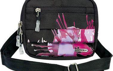 Taška kapsička Loap Boa Pink Orchid - černá/růžová