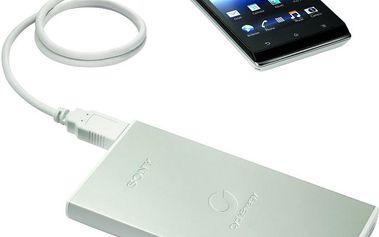 USB zdroj Sony CP-F1LSA přenosný, stříbrný