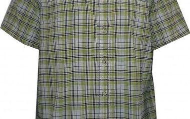 Pánská košile Nordblanc NBFSM1586_CTV, zelená/bílá