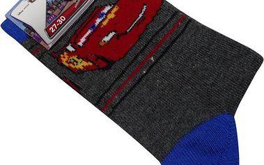 Dětské ponožky Disney autíčko - šedá
