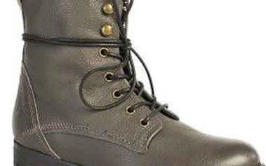 Bullboxer - Dámské kotníkové boty z kolekce - grafit, 38