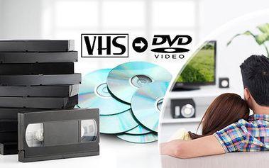 Převod až 240 minut záznamu z VHS kazet či jiných druhů na DVD! Doprava výsledných DVD zpět zdarma!