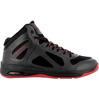 AND1 ELEV8 MID Black/Black/V.Red D1036M-BBR
