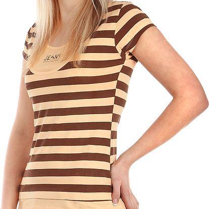 Moderní pruhované tričko oranžová