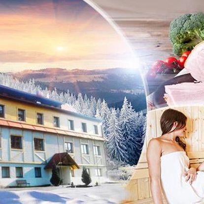 Krkonoše - Jestřábí v Krkonoších pro 2 osoby na 3, 4, 5, 6 nebo 7 dní s polopenzí, saunou, vířivkou a posilovnou.