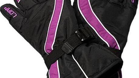 Dětské prstové rukavice Loap Viola V02J černá-fialová