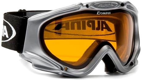 Alpina MAXIMA Black Silver lyžařské brýle - stříbrná