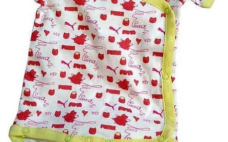 Dětské body Puma Born set - bílá/žlutá/červená