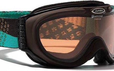 Alpina Challenge Brown Turkis lyžařské brýle - hnědá/tyrkysová