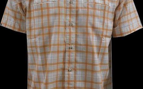 Pánská košile Nordblanc NBFSM1586_ORV, oranžová/bílá