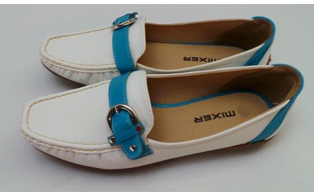 Dámské mokasíny Mixer, bílo-modré