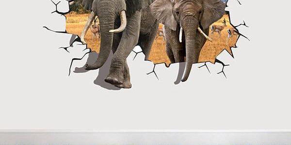 3D samolepka se slony