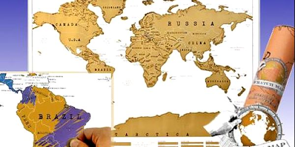 Geniální dárek pro každého cestovatele! Stírací mapa světa v originálním tubusu!