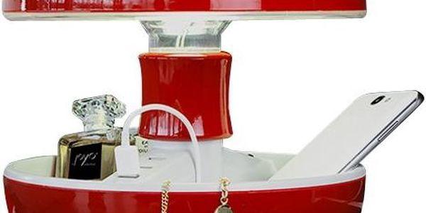 Stolní lampa a nabíječka v jednom Joyo Classic, červená - doprava zdarma!