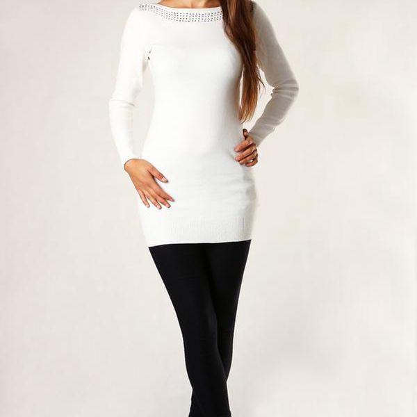 Dámský elegantní svetr - úpletové šaty černá