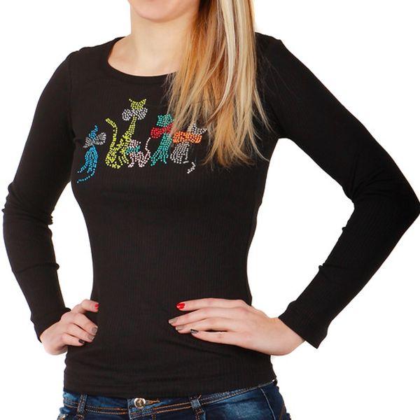 Dámské triko s dlouhým rukávem zelená