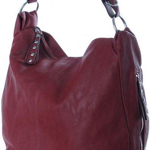 Dámská elegantní kabelka z umělé kůže šedá