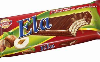 Sedita Sedita Ela Dia oplatky s lískooříškovou náplní v kakaové polevě 25g
