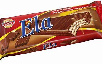 Sedita Sedita Ela Dia oplatky s čokoládovou náplní v kakaové polevě 25g