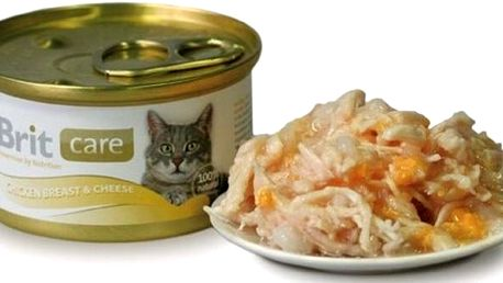Brit Care Cat konzerva Chicken Breast & Cheese 80…