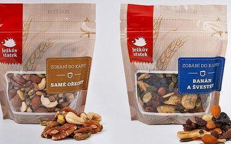 Směs sušeného ovoce a ořechů na zobání