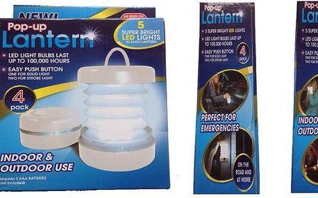 Skládací led svítidla. Díky malým rozměrům a hmotnosti ho mohou nosit dámy v kabelce nebo děti ve školní tašce.4 kusy v balení.