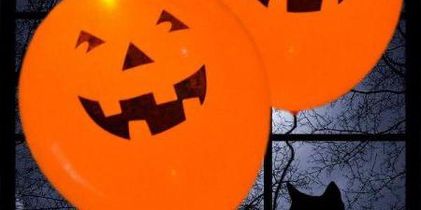 Svítící balonky dýně Halloween - 5 ks!