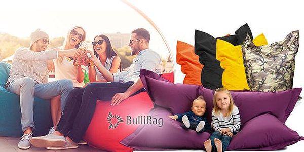 Sedací pytle Bullibag vč. poštovného na vnitřní i venkovní použití! Velký nebo malý vak v několika barvách.