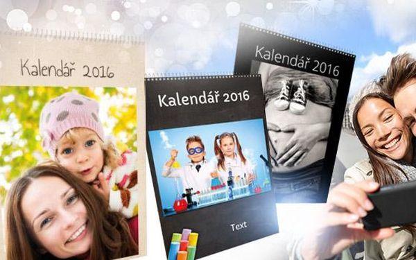 13stránkový nástěnný měsíční kalendář pro rok 2016 s Vašimi fotografiemi, formát A3! Osobní odběr Brno.