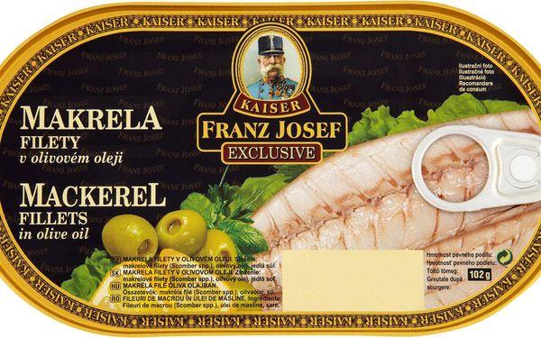 Kaiser Franz Josef Kaiser Franz Josef Exclusive Makrela filety v olivovém oleji 170g