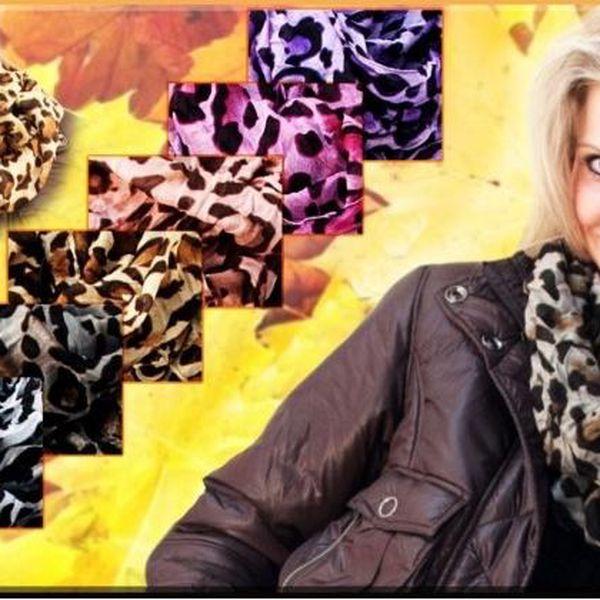 Módní tunelové šátky s leopardím vzorem!