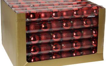 Vánoční koule 8 x 70 mm červené