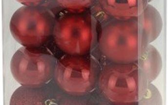 Vánoční koule 24 x 60 mm červené