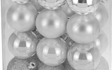 Vánoční koule 24 x 50 mm bílé