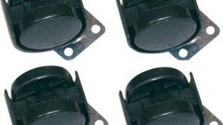Kolečko plastové, 4 ks, 40 mm, černé TESTRUT TE-135245