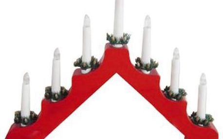 Svícen vánoční el. 7 svíček