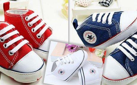 Roztomilédětské botičky Converse Style ve 3 barevných variantách. Hledáte pro Vašeho malého prince nebo princeznu stylové, roztomilé a unikátní botičky, které si zamiluje? Pak jsou tyto Converse Style botičky pro Vás jasná volba!