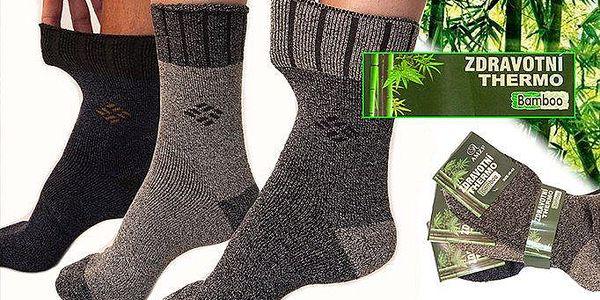 6 párů thermo ponožek z 95% přírodního materiálu