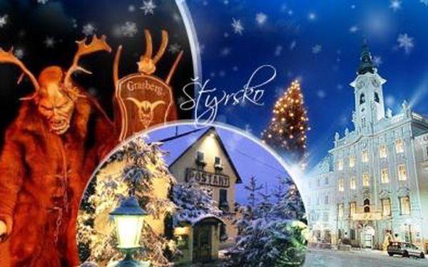 Rakousko - Štýrsko. 1denní adventní trhy a průvod čertů pro 1 os. s dopravou a průvodcem. 12.12.2015!