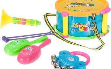 5 kusů dětských hudebních nástrojů