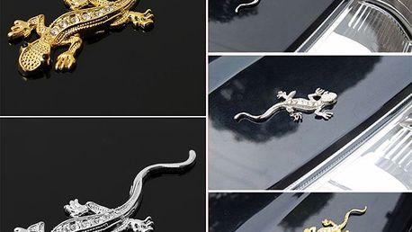 3D ještěrka - nálepka na auto